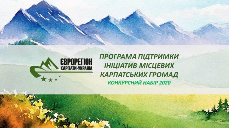 Інфографіка щодо одержаних заявок на Конкурс ініціатив місцевих карпатських громад.